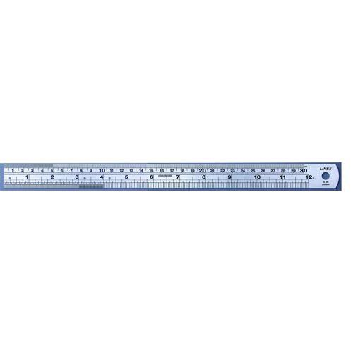 Linex Ruler Stainless Steel Imperial And Metric With Conversion Table 300mm
