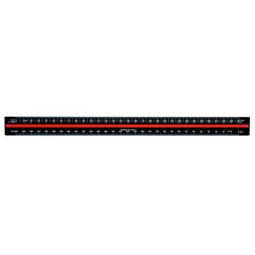 Linex Scale Ruler Triangular Aluminium Colour-Coded Scales 1-1 To 1-2500