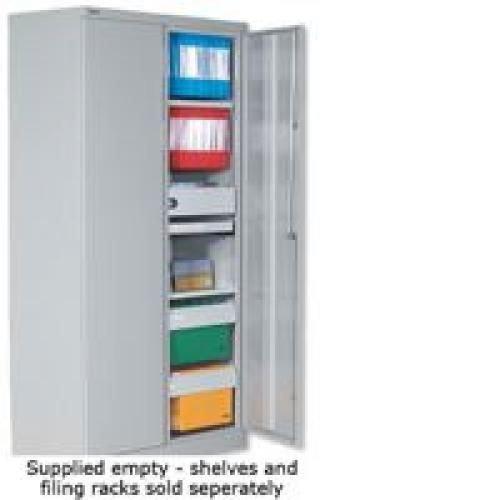 Bisley 2 Door Cupboard Supplied Empty 1829mm High Flat Goose Grey