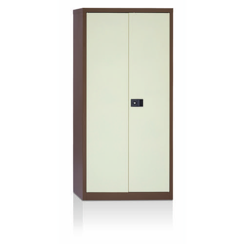 Initiative Stationery Cupboard 1806mm 3 Shelves Coffee Cream
