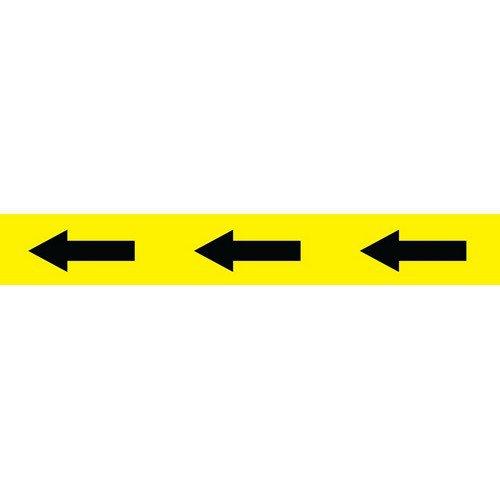 Social Distancing Self Adhesive Floor Tape (50mm x 33m) Black/Yellow Arrow