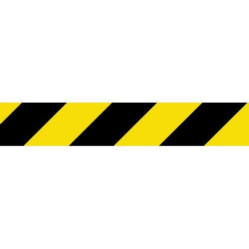 Social Distancing Self Adhesive Floor Tape (50mm x 33m) Black/Yellow Chevron