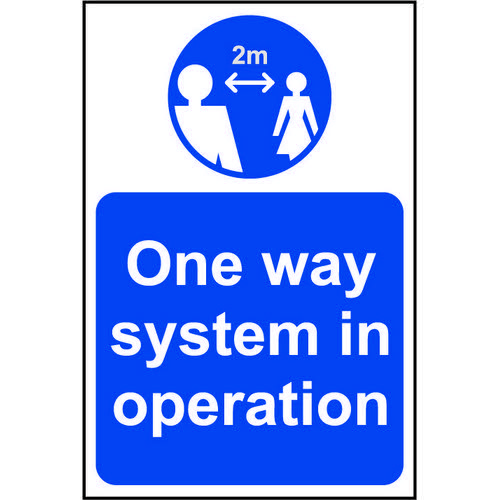 Lightweight and sturdy Correx A-Board (Blue) One Way System In Operation
