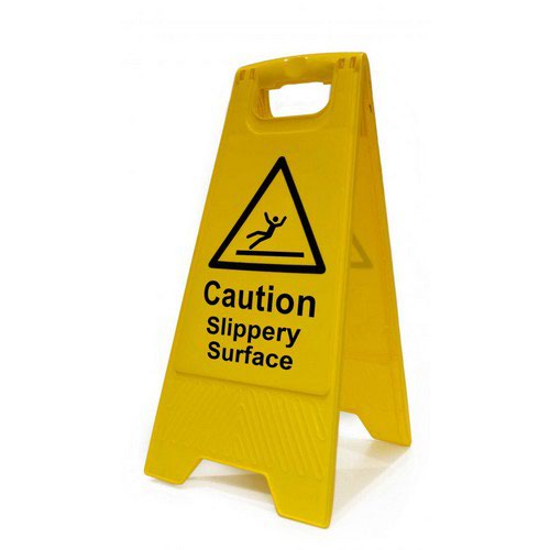 Caution Slippery Surface Heavy Duty A Board made from polypropylene and are printed on both sides. S