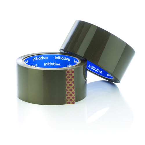 Initiative Polypropylene Packaging Tape 48mmx66M Buff Low Noise