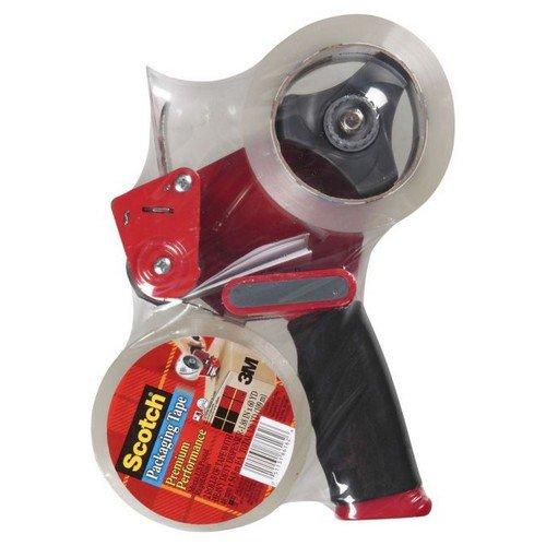 Scotch Heavy Duty Pistol Grip Dispenser + 2 Rolls Scotch Storage Tape Low noise Brown 50mm x 66m