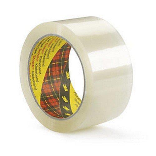 3M Scotch 371 Polypropylene Adhesive Clear 48mm x 66m Pack 6