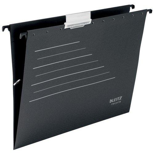 Leitz Alpha Recycle Card Suspension File A4. Black