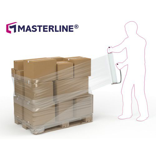 Masterline Blown Hand Stretch Film Black 500mm X 250m X 17mu Box 6