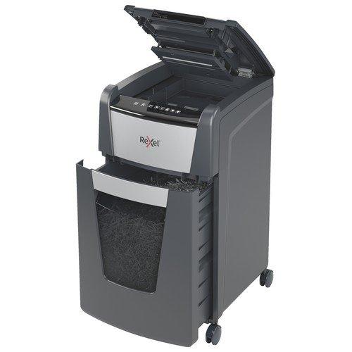 Rexel Optimum AutoFeed+ 225M Automatic Micro Cut Paper Shredder Black