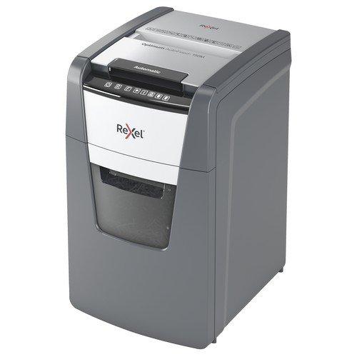 Rexel Optimum AutoFeed+ 150M Automatic Micro Cut Paper Shredder Black