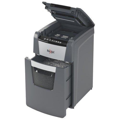 Rexel Optimum Auto+ 150X  Cross Cut Paper Shredder Black