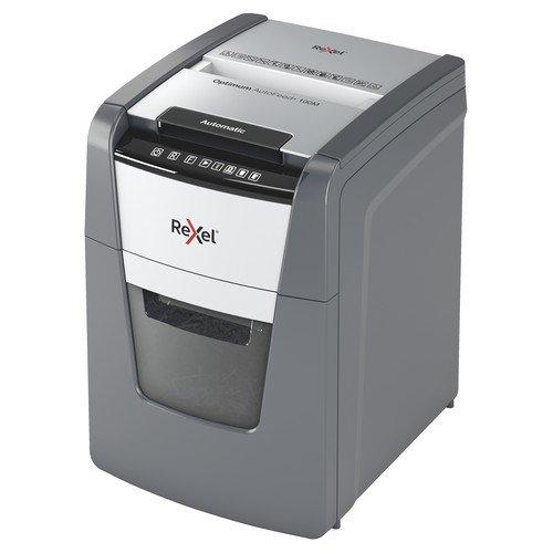 Rexel Optimum AutoFeed+ 100M Automatic Micro Cut Paper Shredder Black