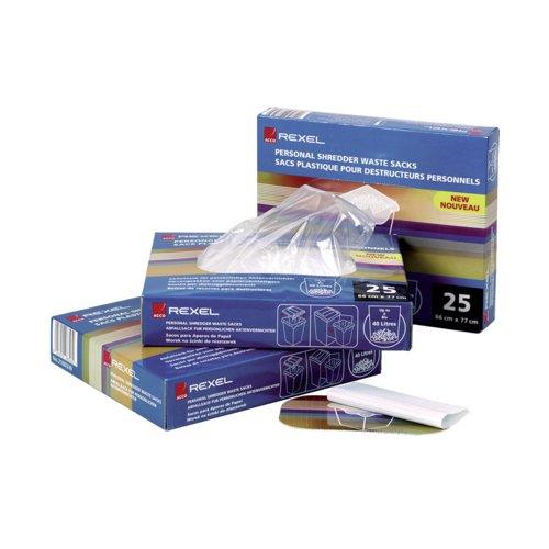 Rexel Shredder Waste Sacks 115 Litres 40070 Pack 100