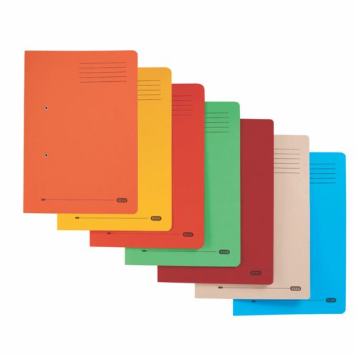 Elba Strongline Foolscap Spring Files Assorted Pack 10