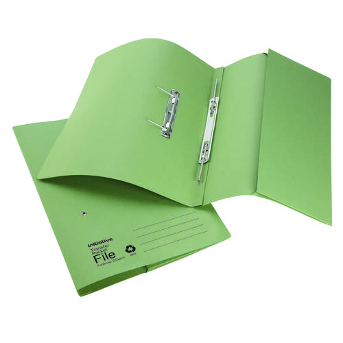 Initiative Transfer Spring File With Pocket Foolscap 285gsm Green