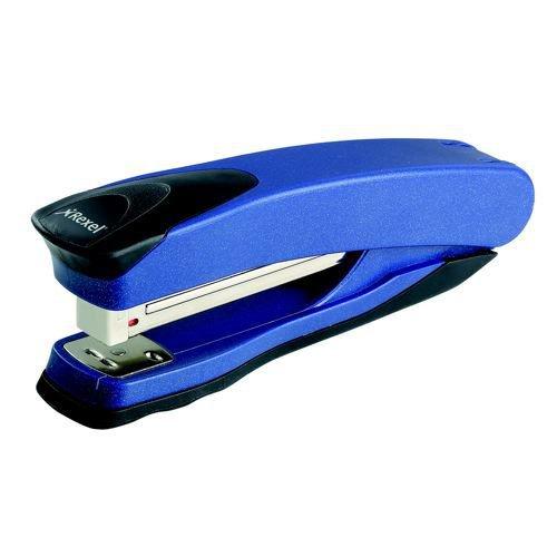 Rexel Taurus Stapler Full Strip Metallic Black 20 Sheet Capacity Metallic Blue