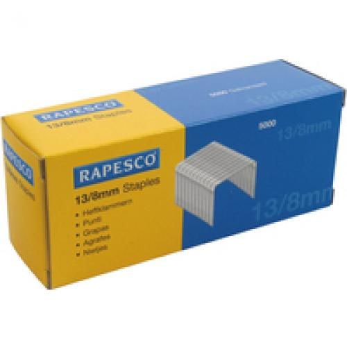 Rapesco Staples 8mm 13/8 Pack of 5000