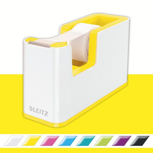 Leitz Tape Dispenser WOW Duo Colour White/Yellow