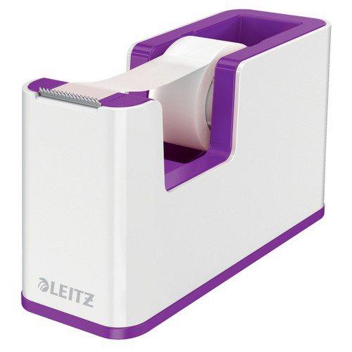 Leitz Tape Dispenser WOW Duo Colour White/Purple