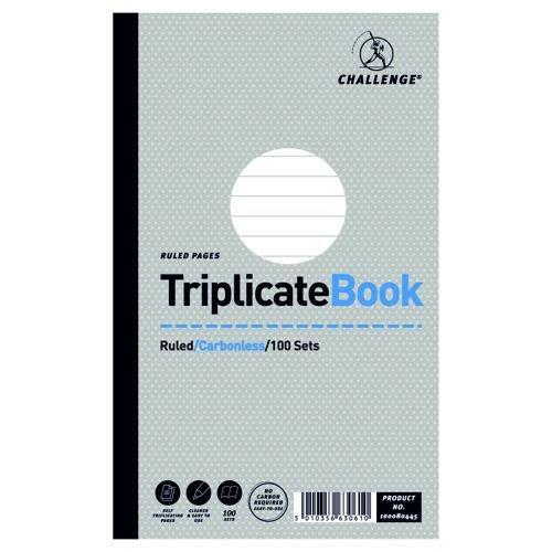 Challenge Ruled Triplicate Book 216x130mm