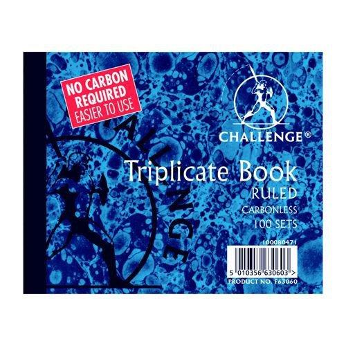 Challenge Ruled Triplicate Book 105x130mm