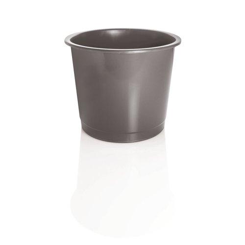 Plastic Waste Bin 14 Litre Grey