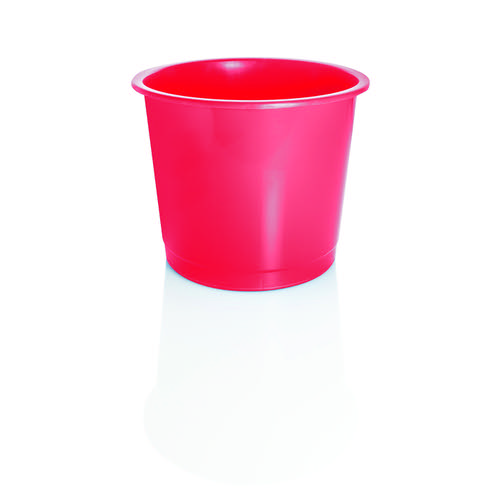 Plastic Waste Bin 14 Litre Red