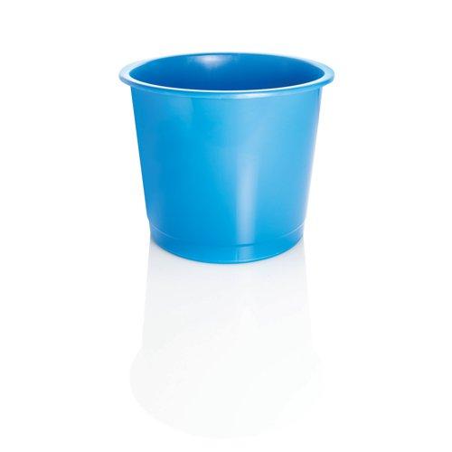 Plastic Waste Bin 14 Litre Blue