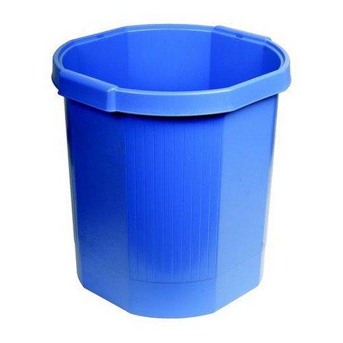Tollit Forever Waste Bin Recycled Plastic 18 Litre Cobalt Blue