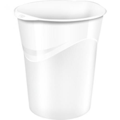 CEP Pro Gloss Waste Bin 14 Litre Capacity And Is Made Of Recyclable Polypropylene White