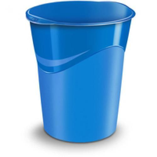 CEP Pro Gloss Waste Bin 14 Litre Capacity And Is Made Of Recyclable Polypropylene Blue