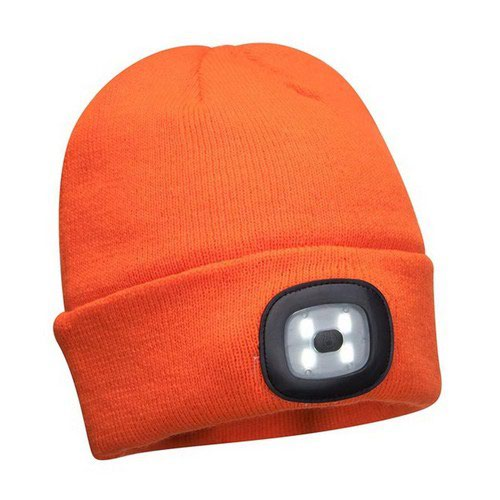 Rechargeable LED Beanie Orange Pack 144