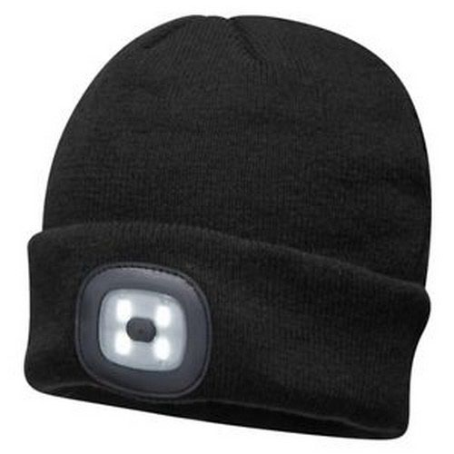 Rechargeable LED Beanie Black Pack 144