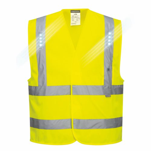 Vega HiVis LED Vest Orange S/M/XXL/3XL Pack 60