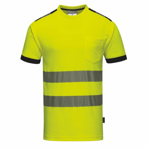 Vision HiVis TShirt S-4XL Yellow Pack 48
