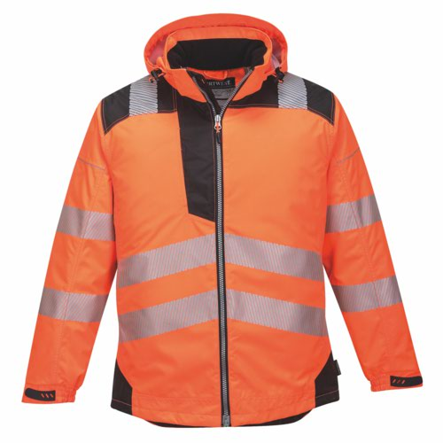 Vision HiVis RainJacket S-6XL Orange Pack 12