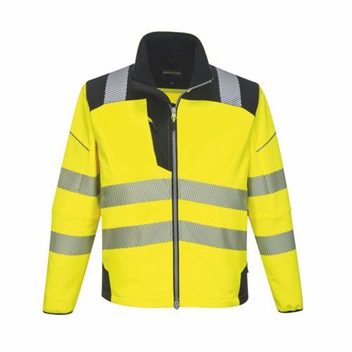 Vision HiVis Softshell Jacket S-6XL Yellow/Black Pack 24