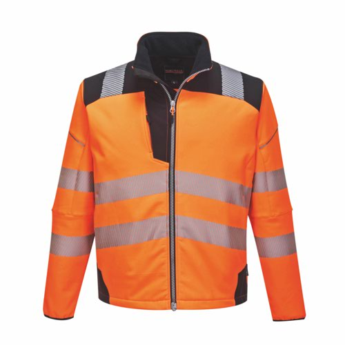 Vision HiVis Softshell Jacket S-6XL Orange/Black Pack 24