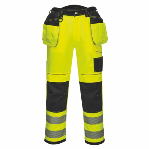 Vision HiVis Holster Trousers 28-48 Yellow/Black Pack 18