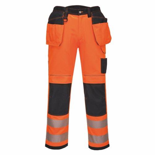 Vision HiVis Holster Trousers 28-48 Orange/Black Pack 18