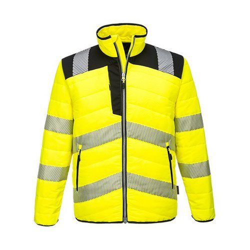 PW3 Hi-Vis Baffle Jacket Yellow/Black LR