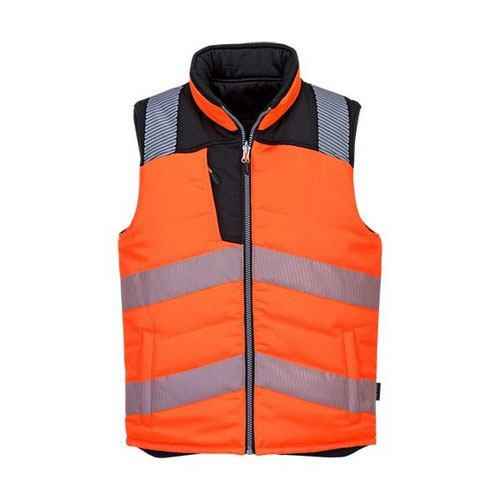 PW3 Hi-Vis Bodywarmer Orange/Black LR