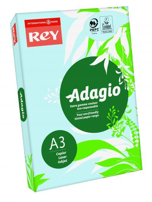 Rey Adagio Paper A3 80gsm Blue (Ream 500)
