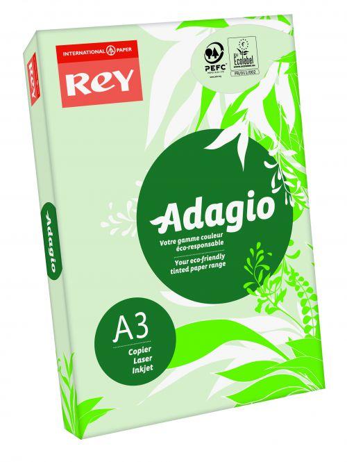 Rey Adagio Paper A3 80gsm Green (Ream 500)