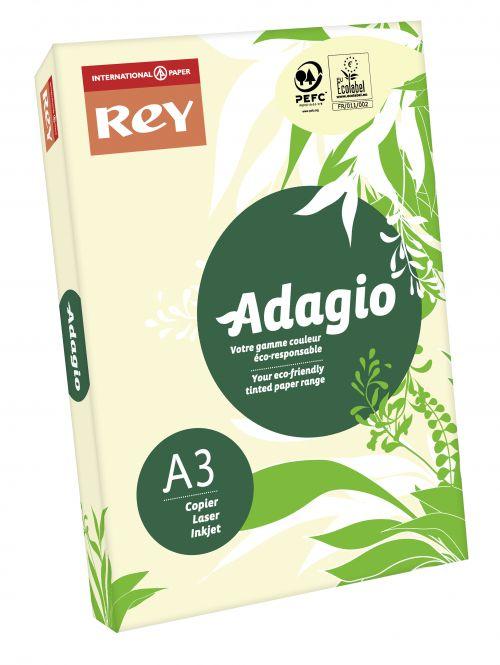 Rey Adagio Paper A3 80gsm Ivory (Ream 500)