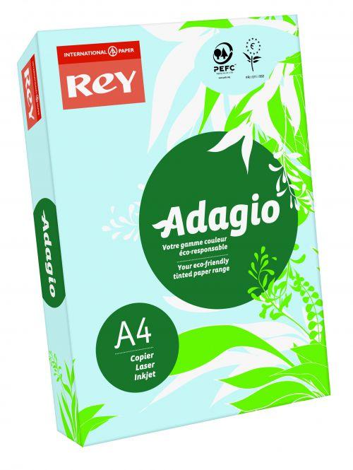 Rey Adagio Card A4 160gsm Blue (Ream 250)