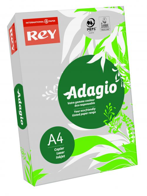 Rey Adagio Paper A4 80gsm Grey (Ream 500)