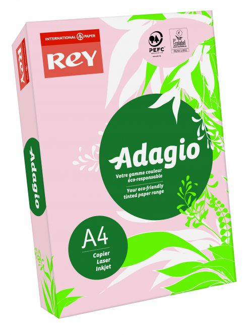 Adagio Pastel Pink A4 Coloured Card (Pack of 250) 201.1205