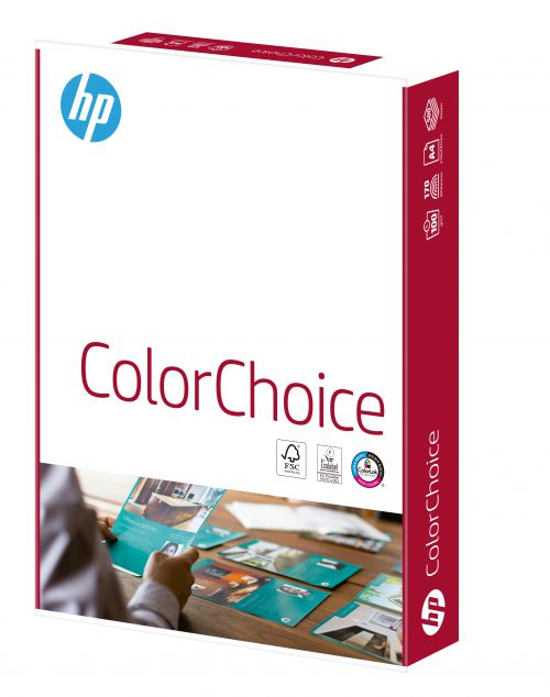 Hewlett Packard HP Color Choice Paper Smooth FSC 100gsm A4 Wht Ref 94291 [500 Shts]